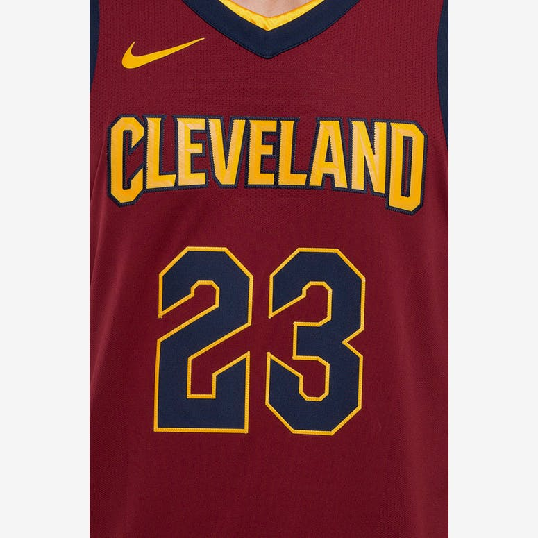 3fee1d5a5 Nike LeBron James  23 Cleveland Cavaliers Icon Edition Authentic NBA Jersey  Red