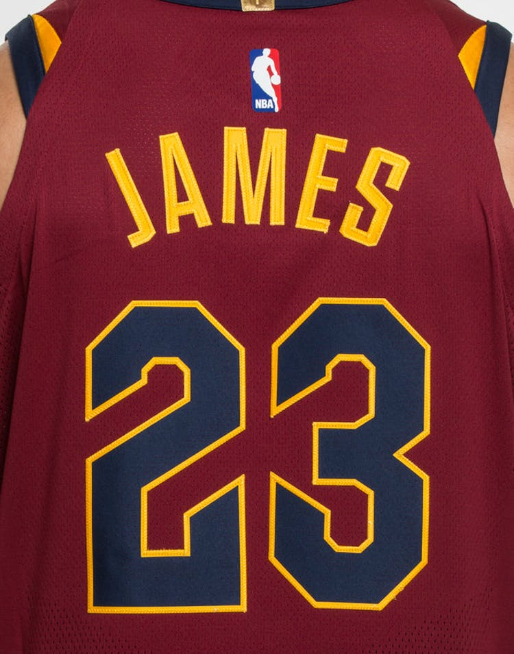 buy popular bb0db 13a82 Nike LeBron James #23 Cleveland Cavaliers Icon Edition Authentic NBA Jersey  Red