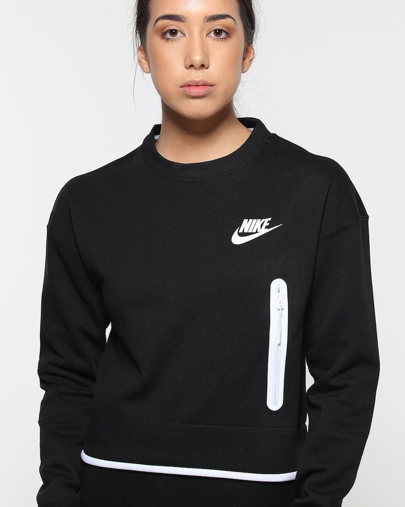 Nike Women's Sportswear Tech Fleece Crew Black/White