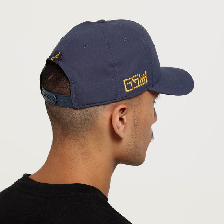 76cc3e789 Nike Golden State Warriors City Edition Dry Arobill Classic99 Snapback Dark  Blue