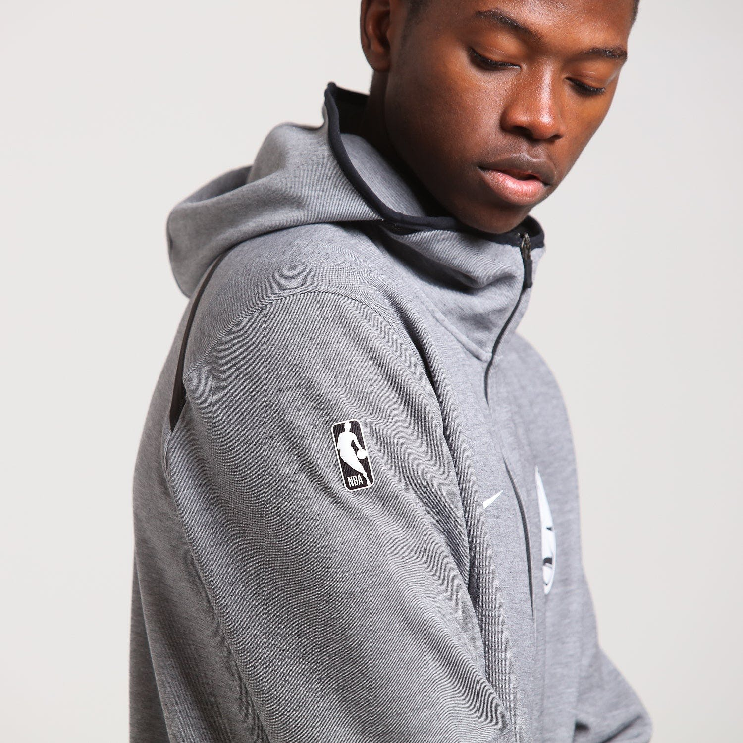 Nike Golden State Warriors Dry Showtime Hoodie Heather/Black/White | Culture Kings NZ