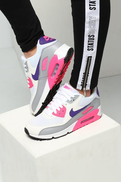 Nike Women's Air Max 90 White/Purple/Grey