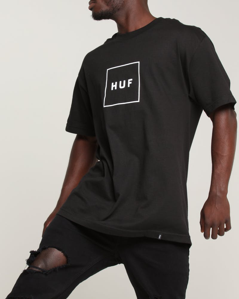 Huf Box Logo Tee Black