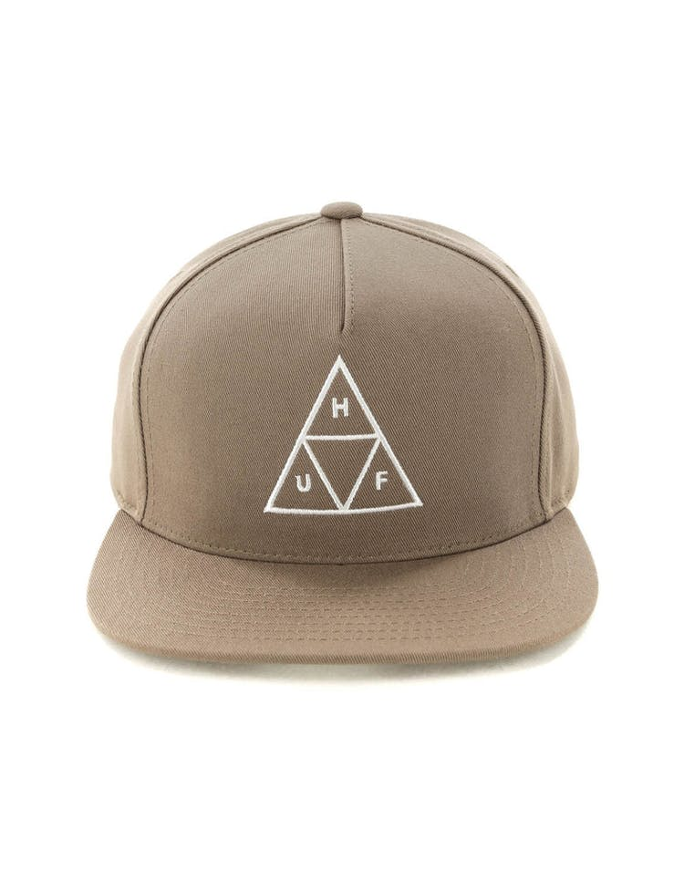 8aa6b720f Huf Essentials Triple Triangle Snapback Hat Tobacco