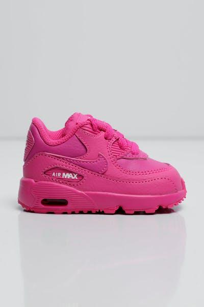 f865c4e229db74 Nike Air Max 90 Leather Toddler Shoe Fuschia