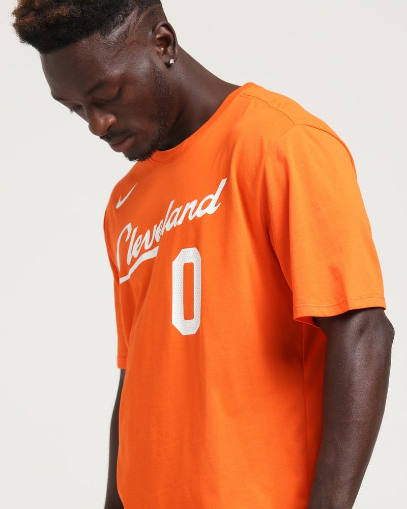 Nike Cleveland Cavaliers Kevin Love #0 City Edition NBA Dri-Fit Tee Orange