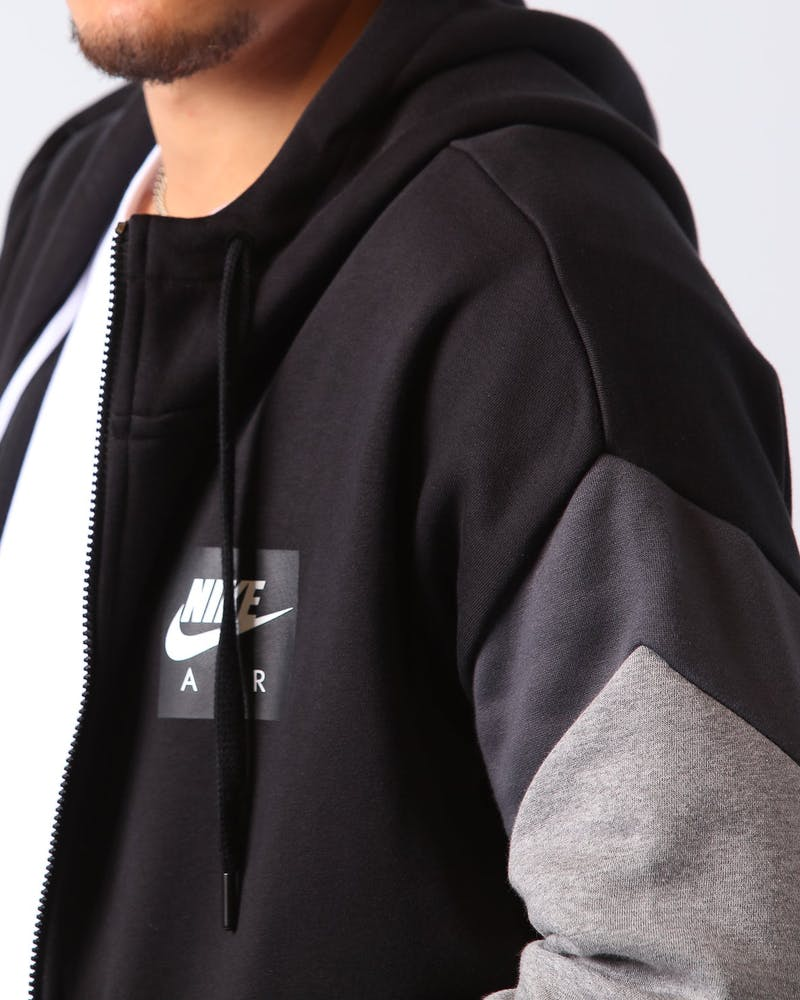 Nike Sportswear Zip Air Fleece Hoodie Black/Anthracite