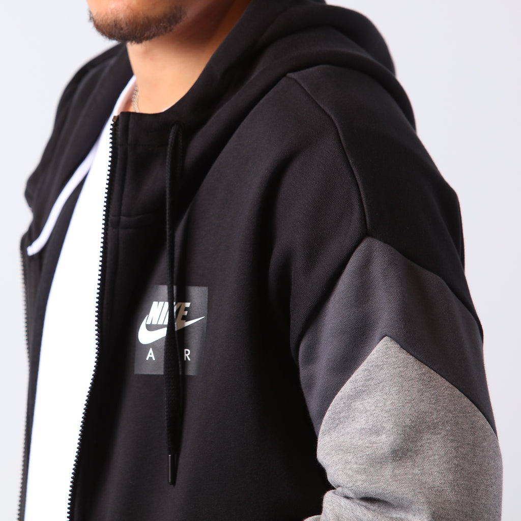 Nike Sportswear Zip Air Fleece Hoodie BlackAnthracite
