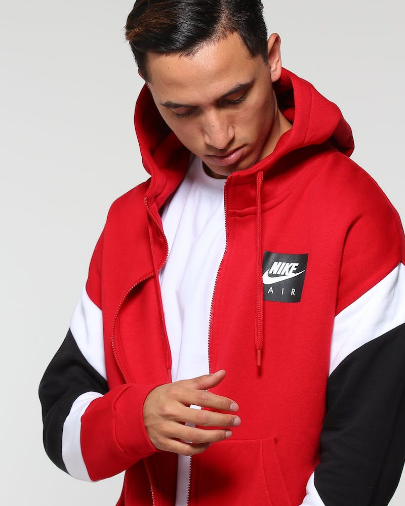 Nike Men's NSW Air Hoodie Red/White/Black
