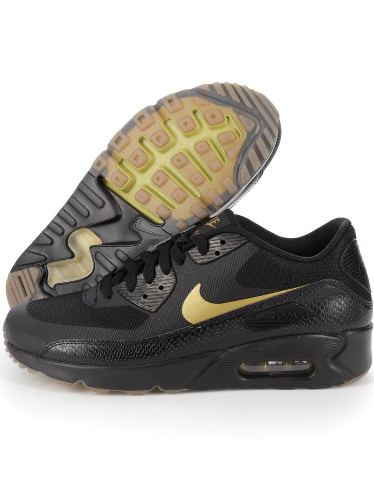 separation shoes f82d3 6d06d NIKE AIR MAX 90 ULTRA 2.0 ESSENTIAL BLACK BROWN GOLD – Culture