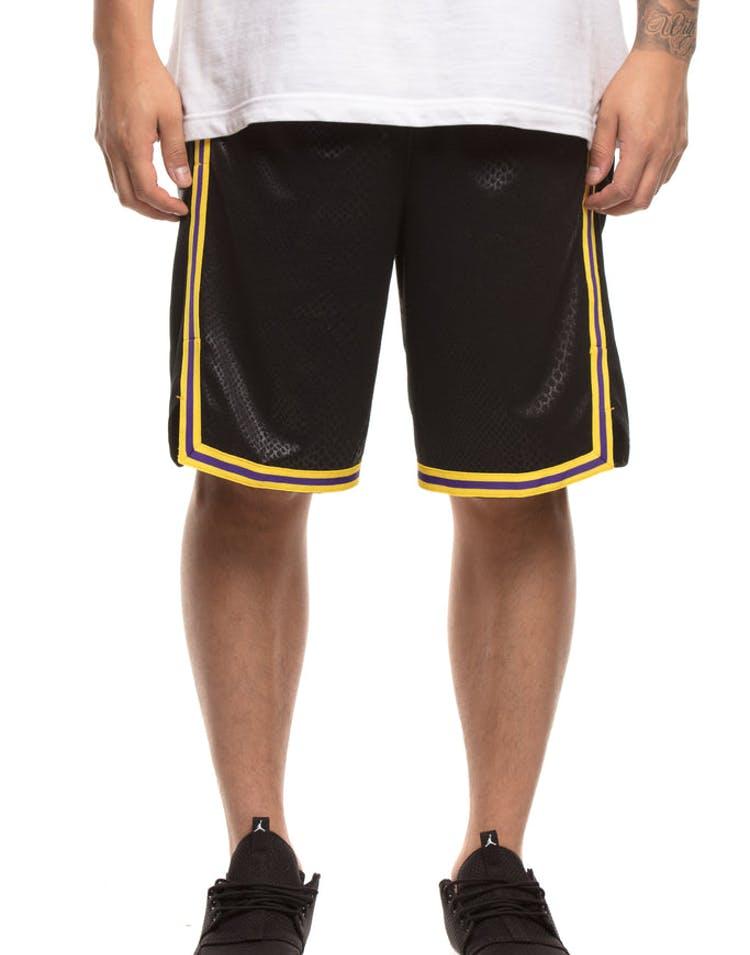 best website f06e7 c0334 Los Angeles Lakers Nike NBA City Edition Swingman Shorts Black Yellow