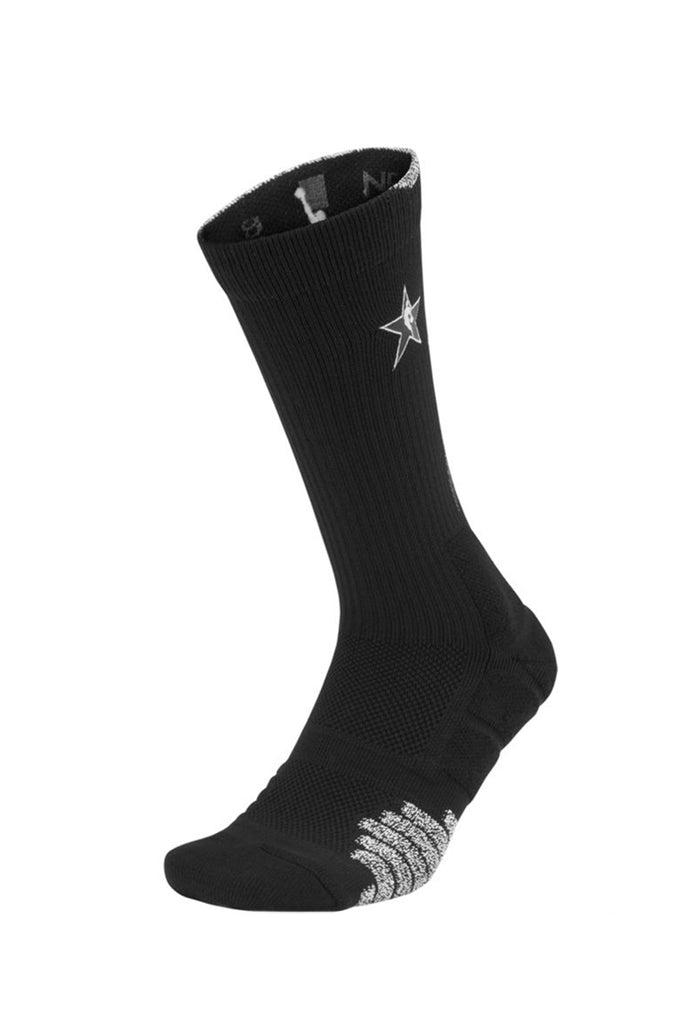 Nike NBA All Star Elite Quick Crew Sock BlackGreyWhite