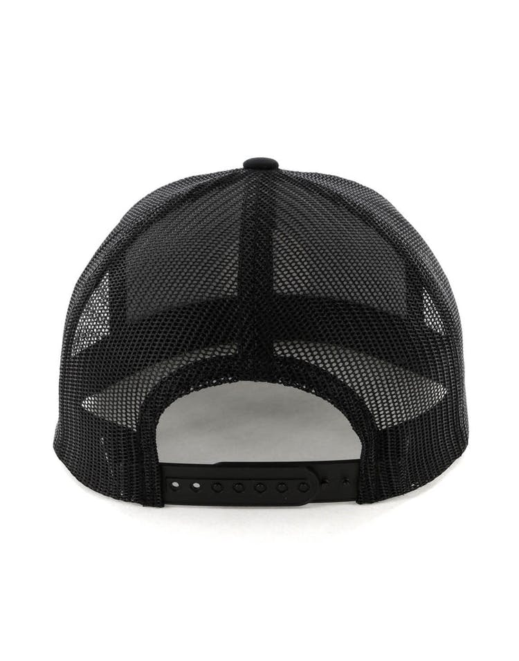 f250a7d6c8456 Brixton Wheeler Mesh Cap Black Black – Culture Kings NZ