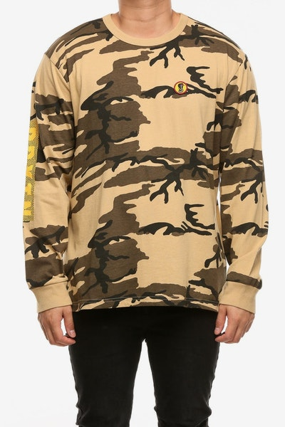 Brixton Fang Long Sleeve Knit Tee Camo
