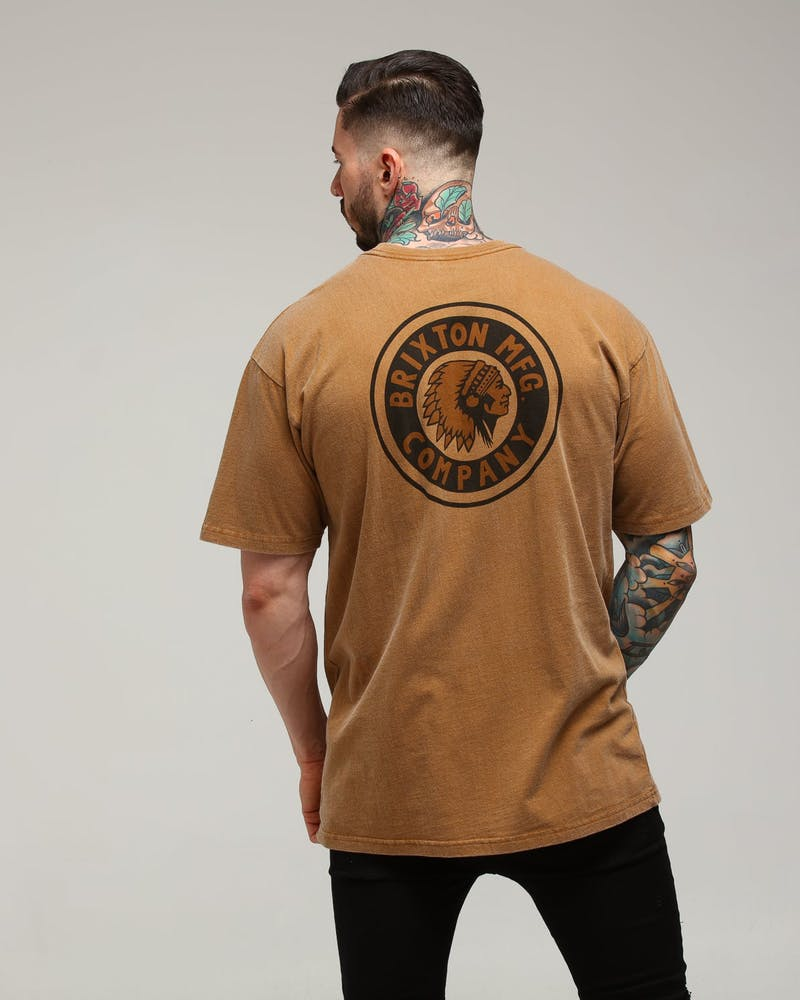Brixton Rival III S/S Tee Washed Copper