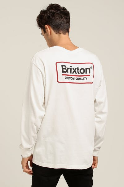 Brixton Palmer SV L/S Tee Off White