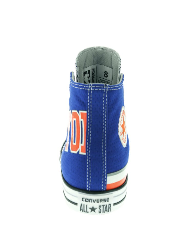 7bd5828a8a Converse X NBA Chuck Taylor All Star Hi New York Knicks Blue ...