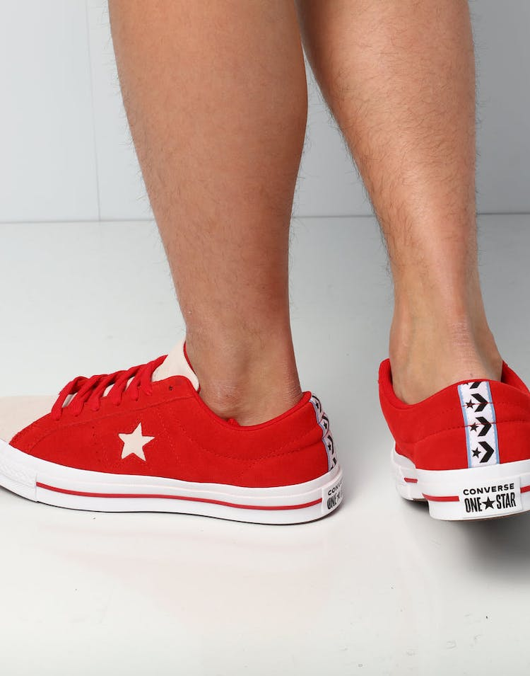 0183f79ca419 Converse One Star Woven Era Low Red White – Culture Kings NZ