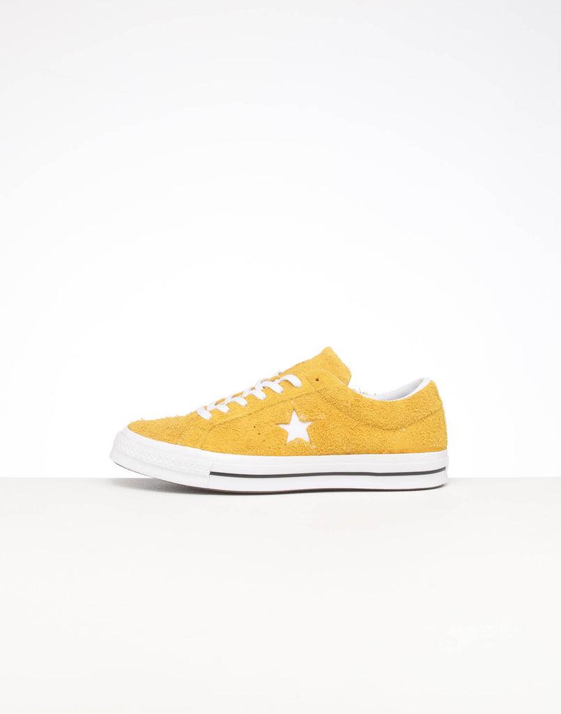 Converse One Star Vintage Suede Low GoldWhiteBlack