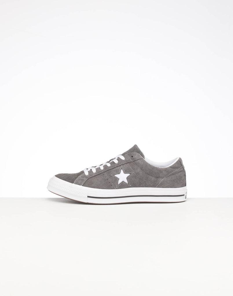 Converse One Star Suede Low GreyWhiteBlack