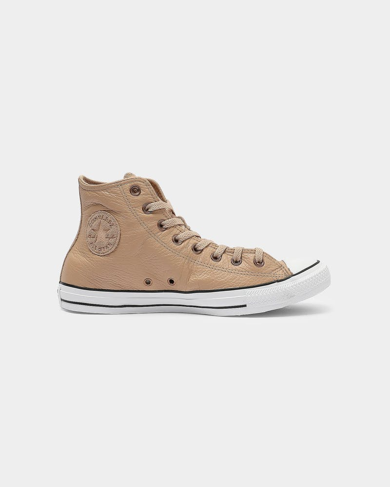 Converse Chuck Taylor Leather Hi Tan/White
