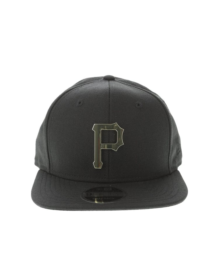 best website 4289e 6582f New Era Pittsburgh Pirates Metal 9FIFTY Snapback Black Gold