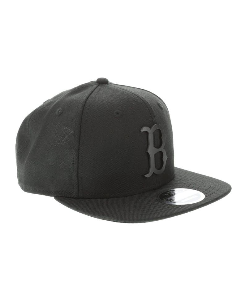 best website 95eb2 5324f New Era Boston Red Sox Metal 9FIFTY Snapback Black Black