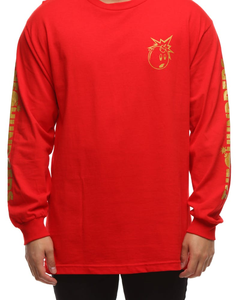 The Hundreds Gold Simple Adam LS Tee Red