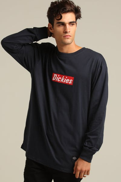 Dickies Lafayette Classic Fit L/S Tee Dark Navy