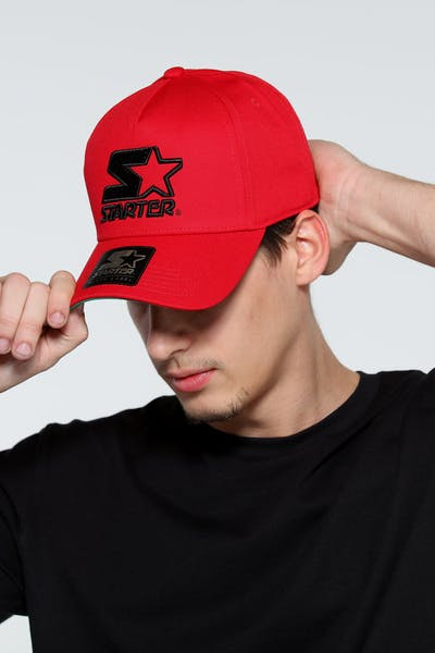 cf4839dba1b Starter X Culture Kings Throwback Snapback Red Black