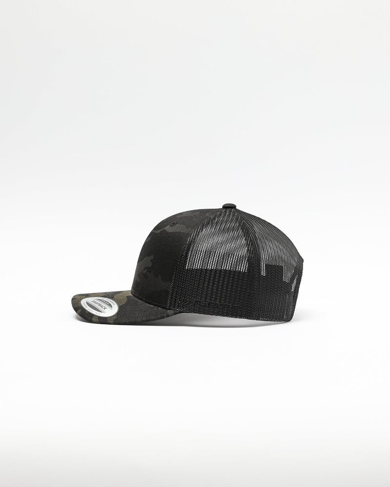 Flexfit Retro Trucker Snapback Multi-Camo/Black
