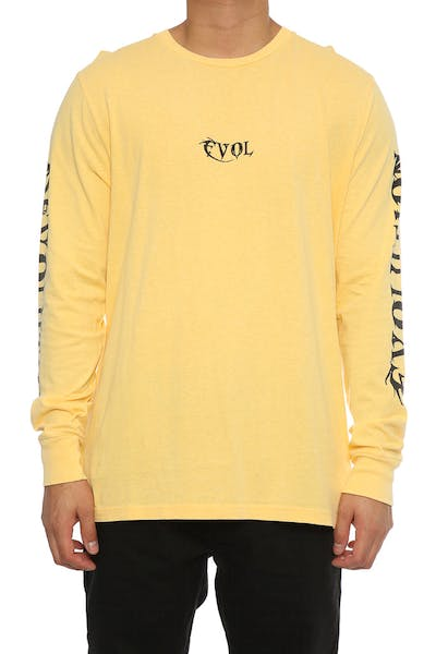 Sushi Radio Revolution Long Sleeve T-Shirt Yellow
