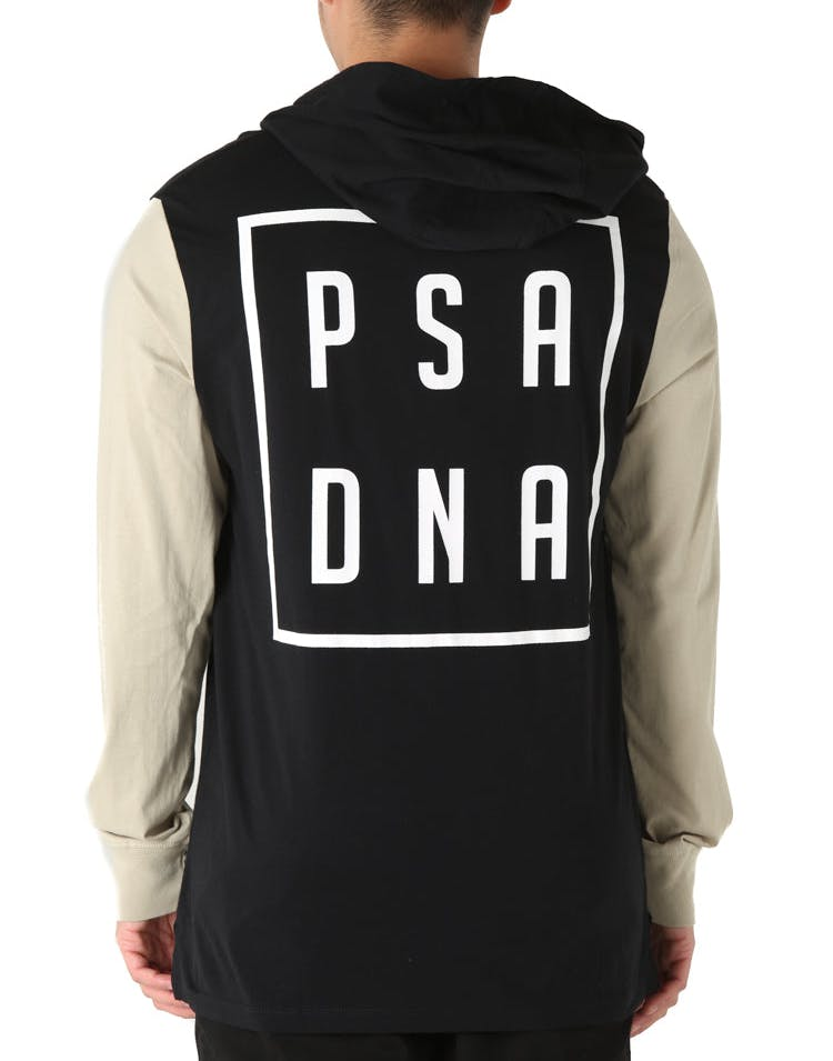 Nena and Pasadena Hawkeye L/S Hooded Tee Jet Black