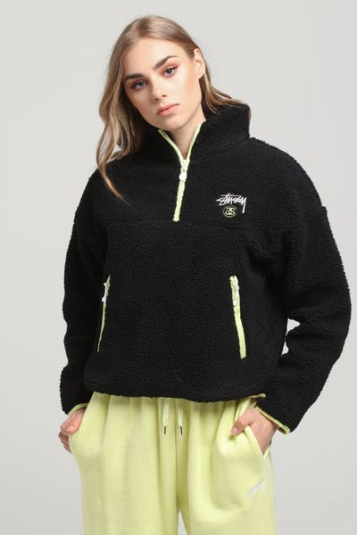 Stussy Women's Fallon Sherpa Jacket Black