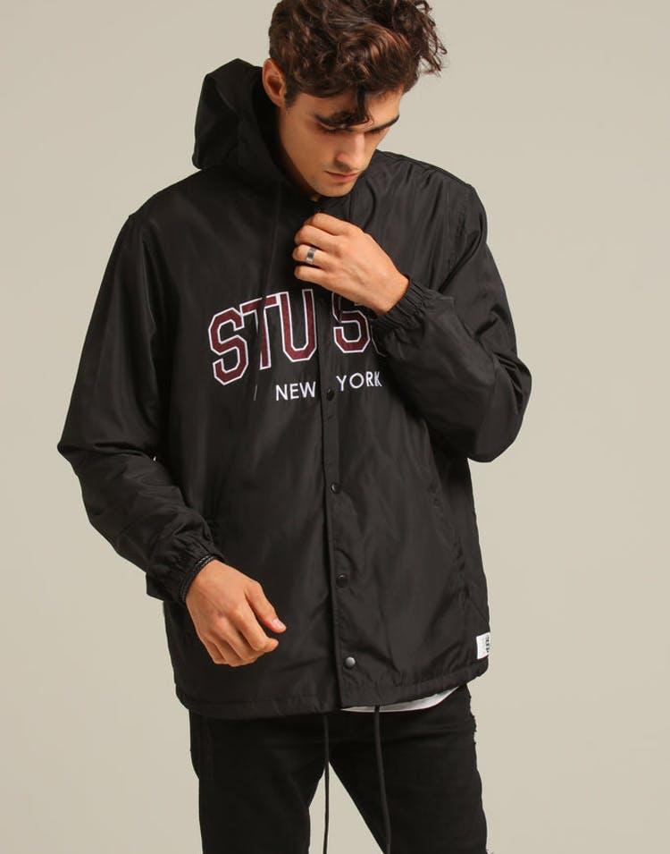 fa4c88687 Stussy NY Hooded Coaches Jacket Black – Culture Kings NZ