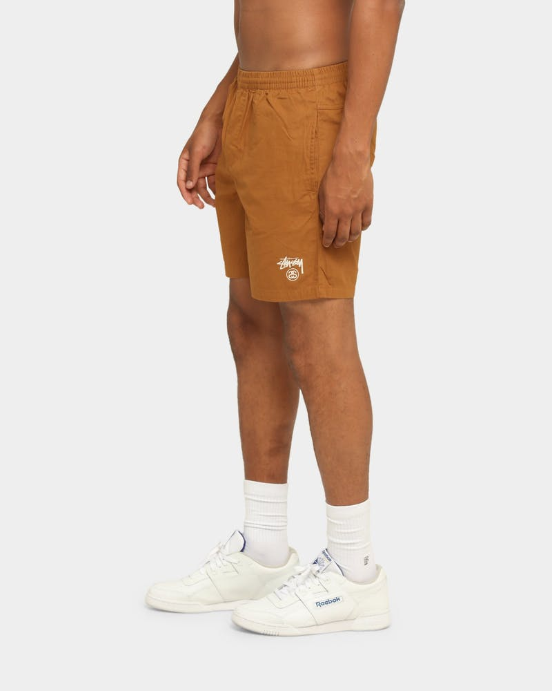 Stussy Basic Stock Beachshort Tan