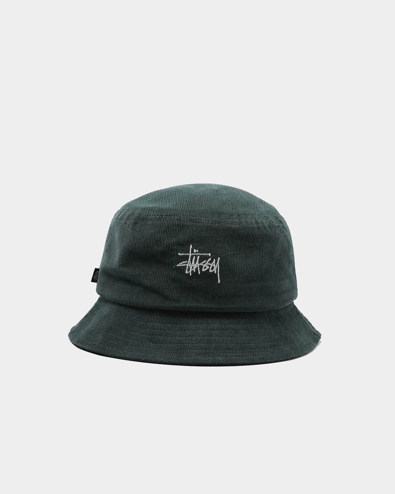 Stussy Graffiti Cord Bucket Hat Bottle Green