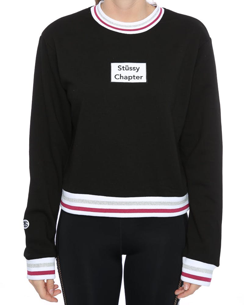 STUSSY CHAPTER CREW BLACK
