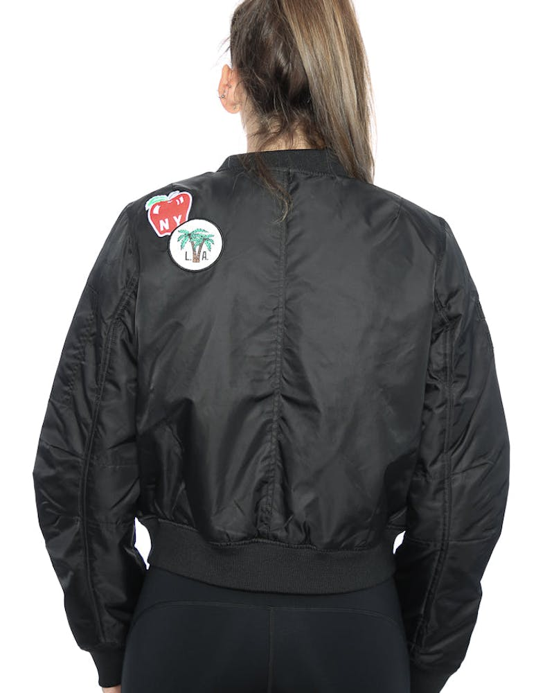 STUSSY PATCHED BOMBER JACKET BLACK