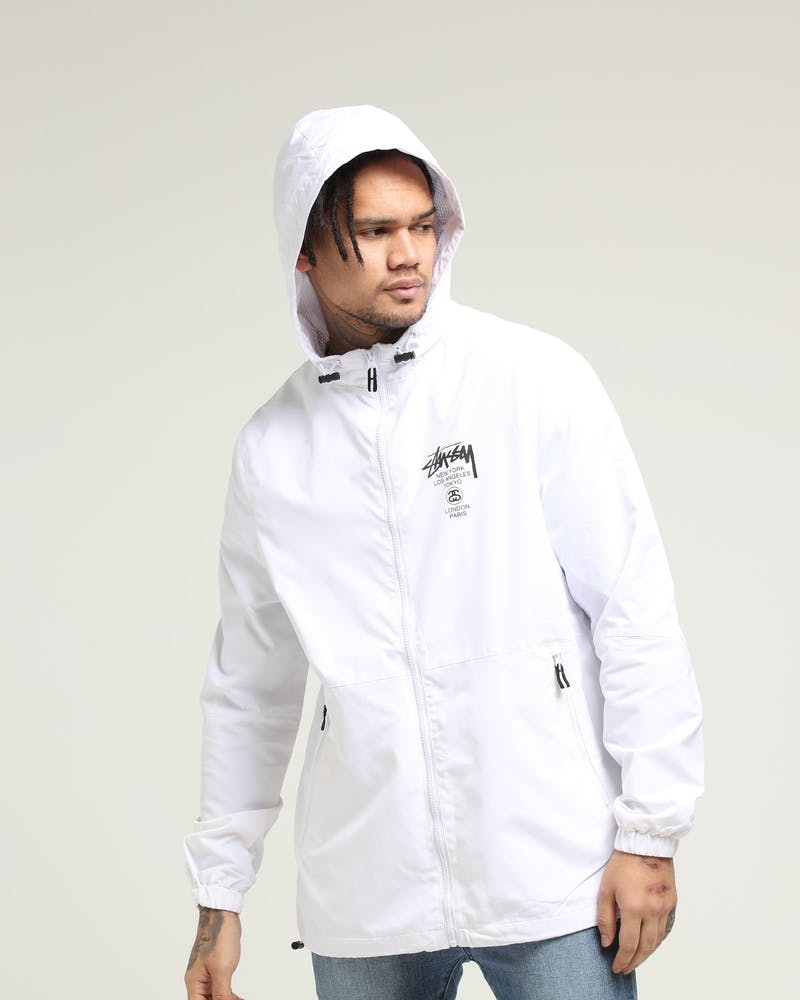 Stussy Cities Spray Jacket Off White