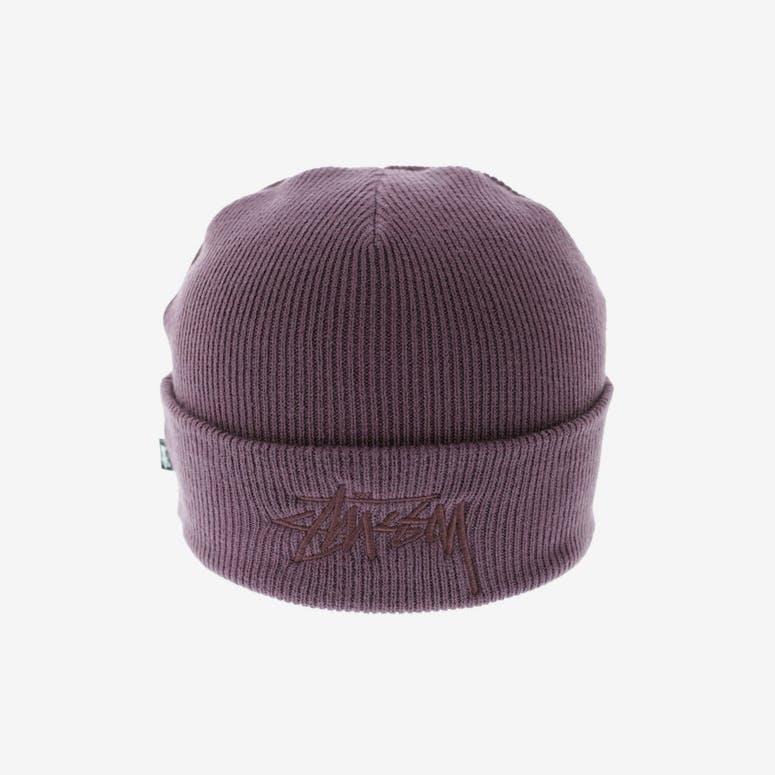 d33ded2b2ad Stussy Tonal Stock Cuff Beanie Dark Purple – Culture Kings NZ