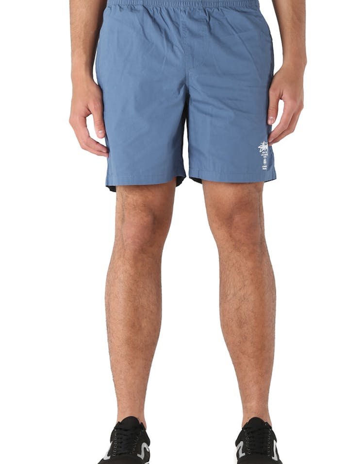 Stussy Cities Poplin Beachshort Medium Blue