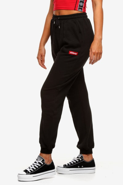 Stussy Women's Box Italic Trackpant Black