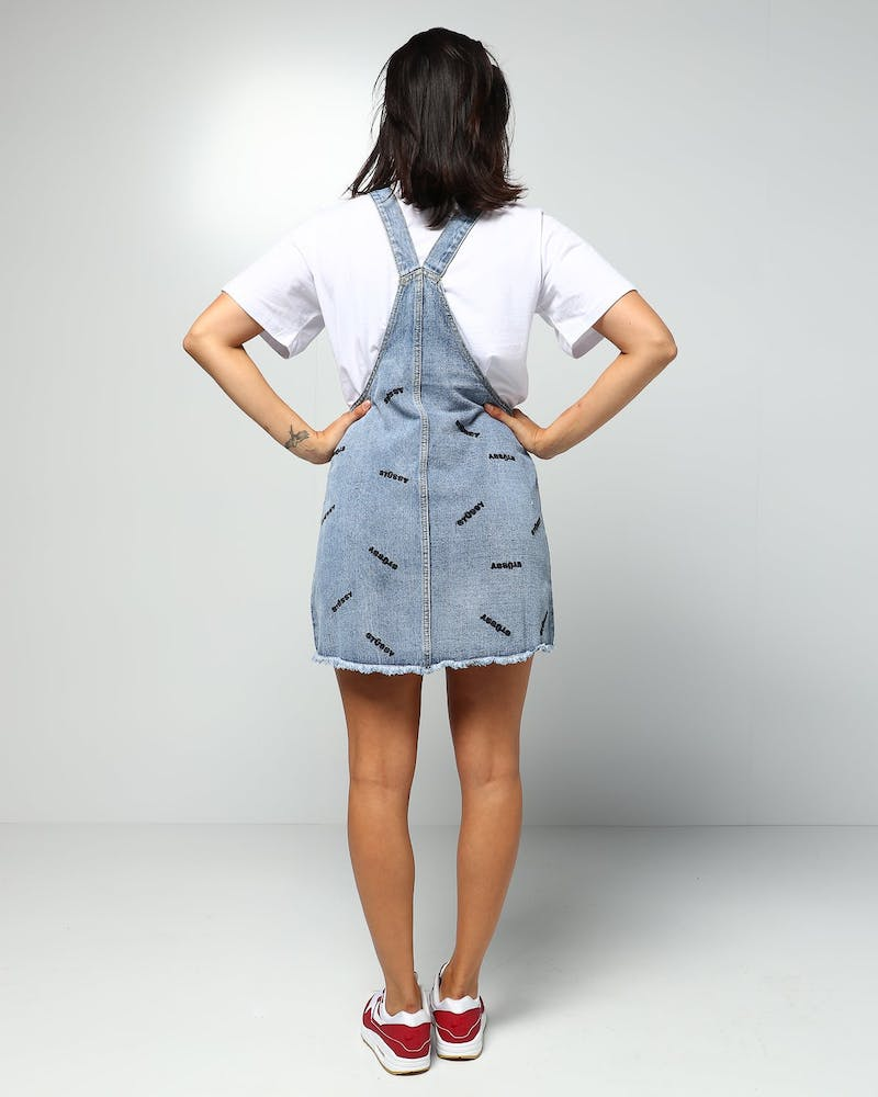 Stussy Women's Chase Pinafore Blue Denim