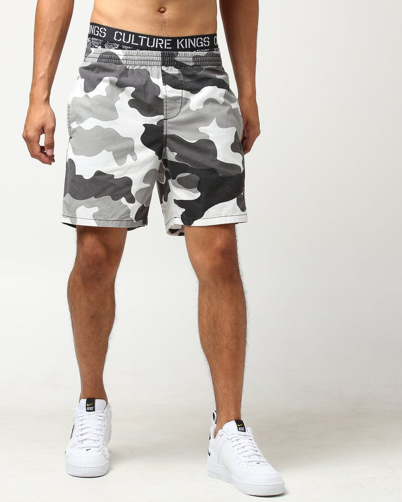 Stussy Bars Logo Beachshort Snow Camo