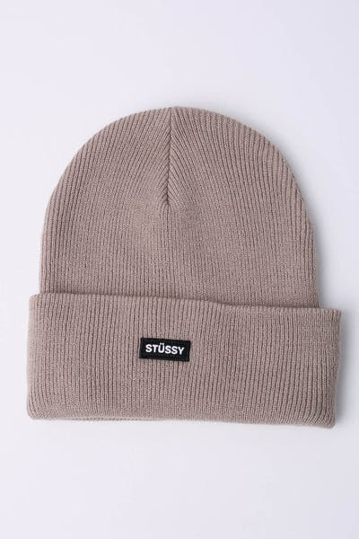 6d2d2cf5681 Stussy Badge Cuff Beanie Atmosphere Grey