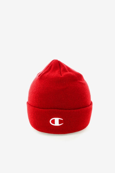 Champion C Life Logo Beanie Red