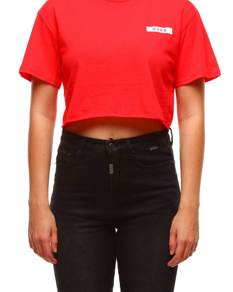 Dead Studios Women's Sport Crop Tee Red