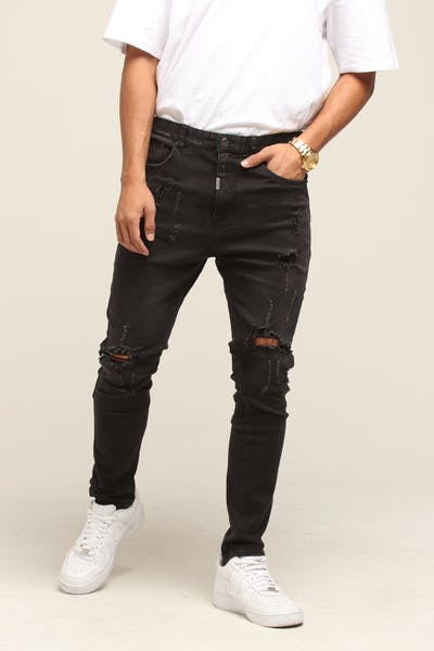 Dead Studios Regrets Jean Washed Black