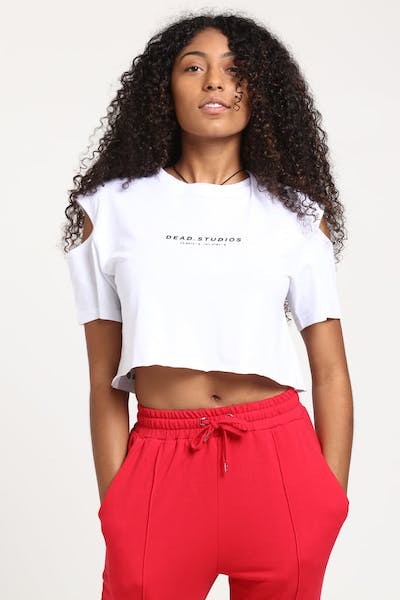 Dead Studios Women's Split Sleeve Tee White